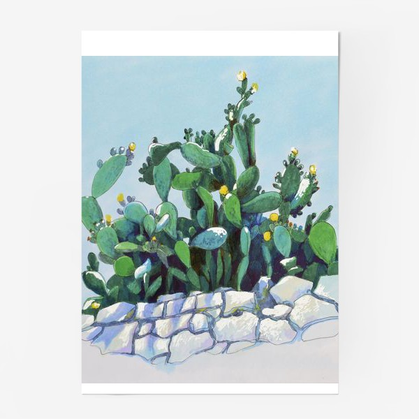 Постер «Кактусы»