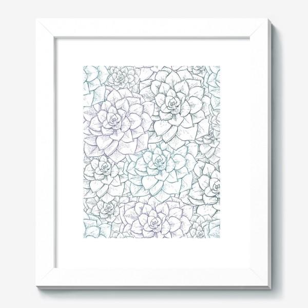 Картина «Паттерн из сукулентов»
