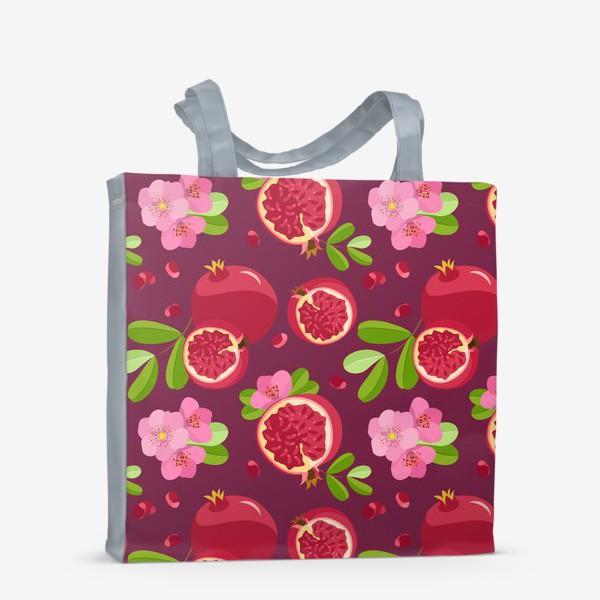 Сумка-шоппер «Сладкий гранат с цветами»