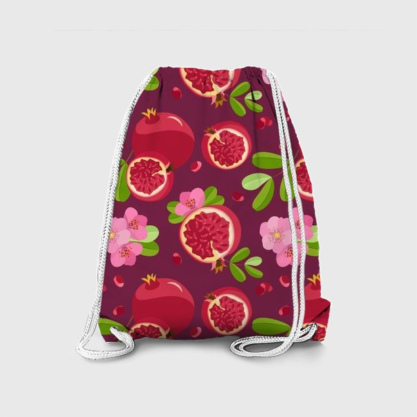 Рюкзак «Сладкий гранат с цветами»