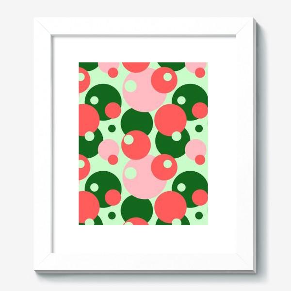 Картина «Цветные круги на светло-зеленом фоне»
