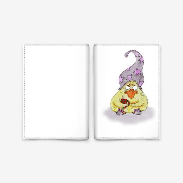 Обложка для паспорта «Сонный утёнок»