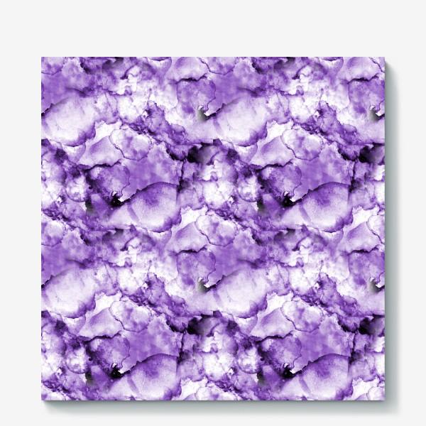 Холст «Фиолетовое безумство (спиртовые чернила)»