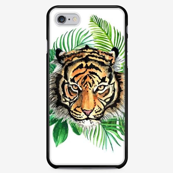 Чехол iPhone «Тигр в тропиках»
