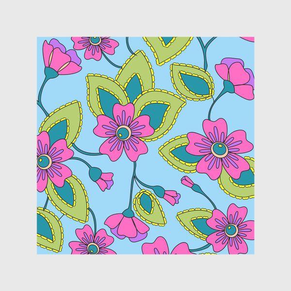 Скатерть «Розовые фантазийные цветы»