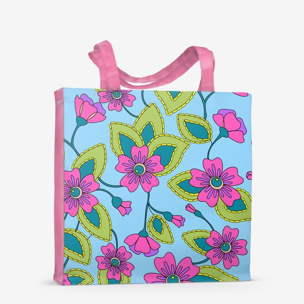Сумка-шоппер «Розовые фантазийные цветы»