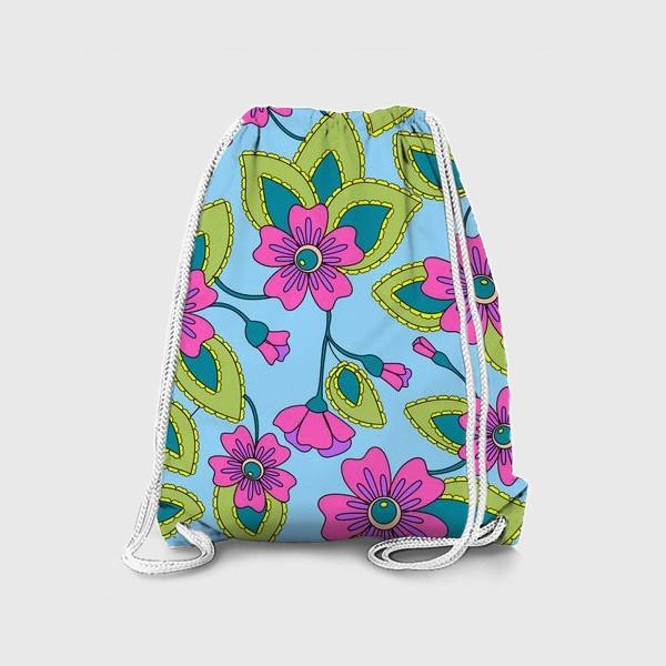 Рюкзак «Розовые фантазийные цветы»