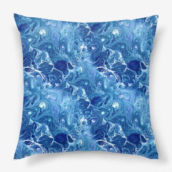 Подушка «Морская фантазия (жидкий акрил)»