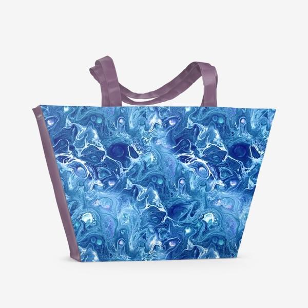 Пляжная сумка «Морская фантазия (жидкий акрил)»