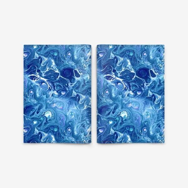 Обложка для паспорта «Морская фантазия (жидкий акрил)»
