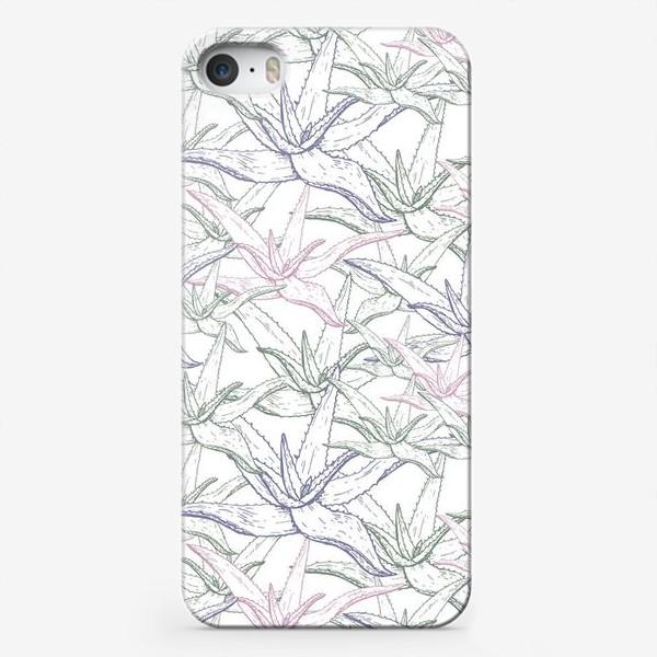 Чехол iPhone «Алоэ вера паттерн»