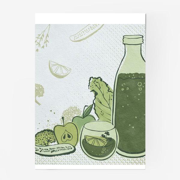 Постер «Витаминный сок»