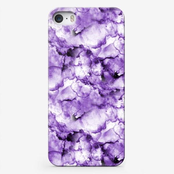 Чехол iPhone «Фиолетовое безумство (спиртовые чернила)»