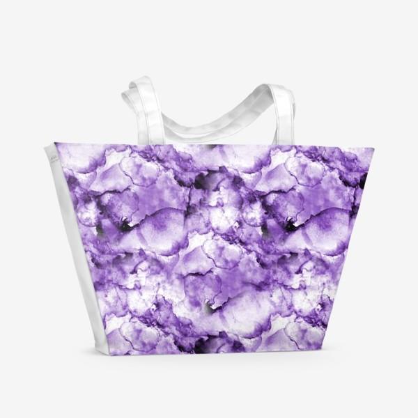 Пляжная сумка «Фиолетовое безумство (спиртовые чернила)»