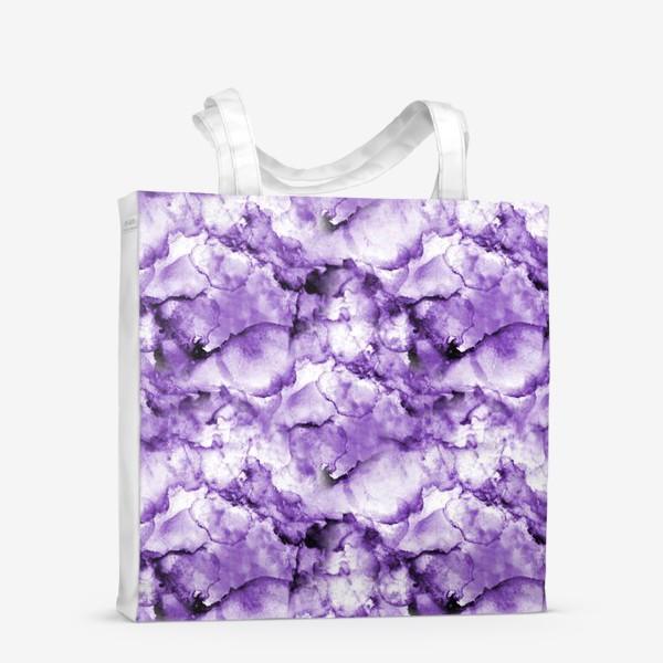 Сумка-шоппер «Фиолетовое безумство (спиртовые чернила)»