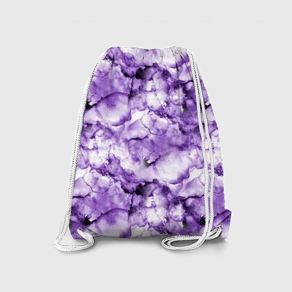Рюкзак «Фиолетовое безумство (спиртовые чернила)»