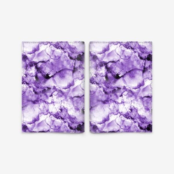 Обложка для паспорта «Фиолетовое безумство (спиртовые чернила)»