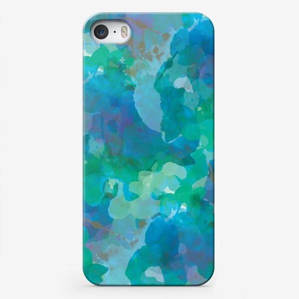 Чехол iPhone «голубая цветочная абстракция»