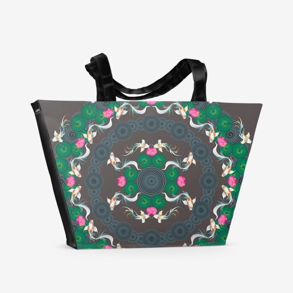 Пляжная сумка «Koi fish»