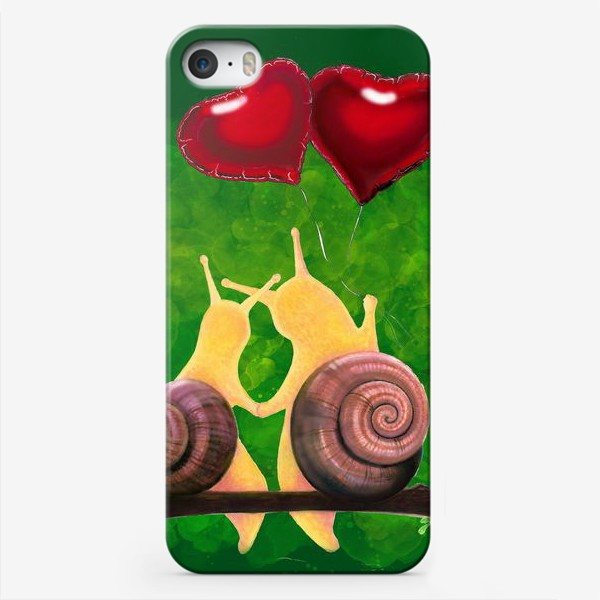 Чехол iPhone «snail love»