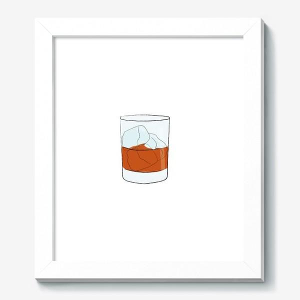 Картина «Виски со льдом, алкогольный напиток»