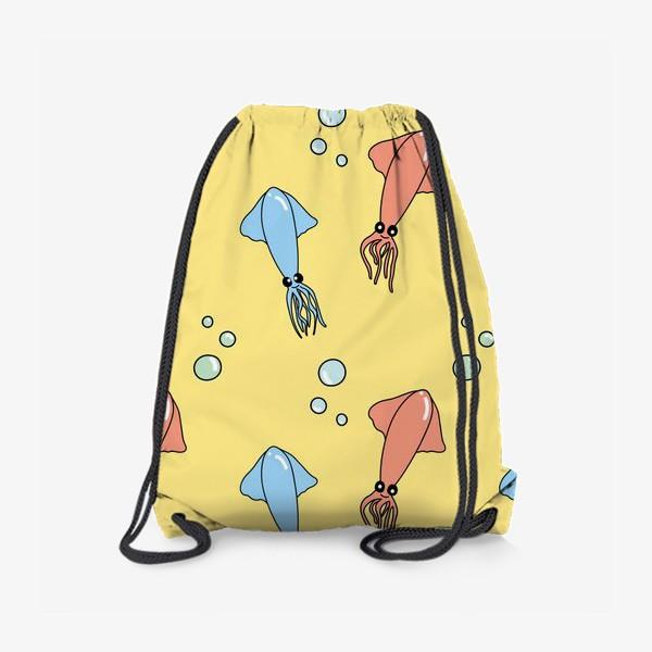 Рюкзак «Морской паттерн с кальмарами»