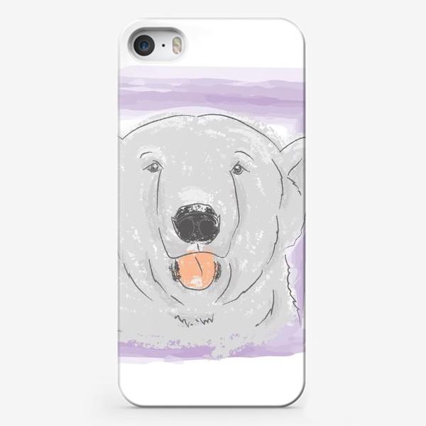 Чехол iPhone «Очаровашка. Белый медведь»