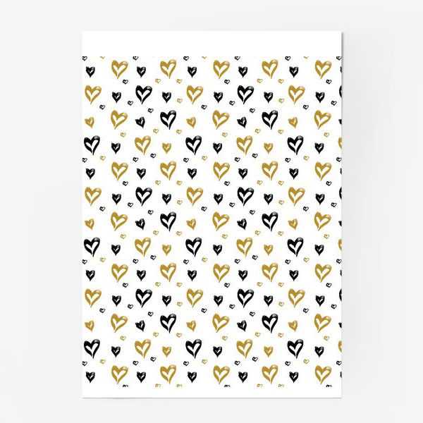 Постер «Pattern design with hearts»