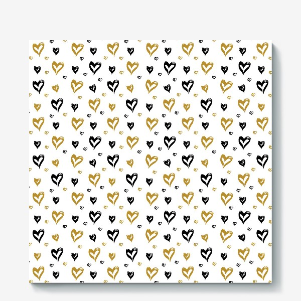 Холст «Pattern design with hearts»