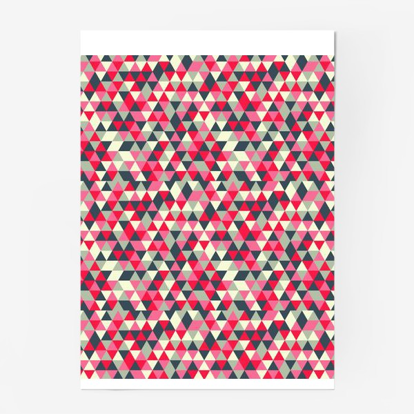 Постер «Pattern design with abstract elements»