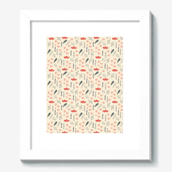 Картина «Паттерн с цветочными элементами»