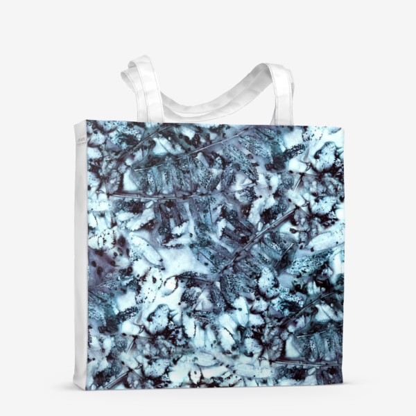 Сумка-шоппер «Осенняя графика (синий)»