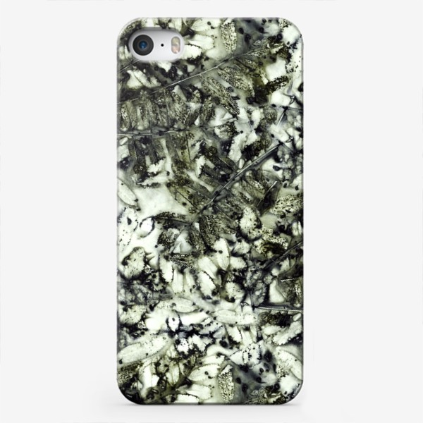 Чехол iPhone «Осенняя графика (темный)»