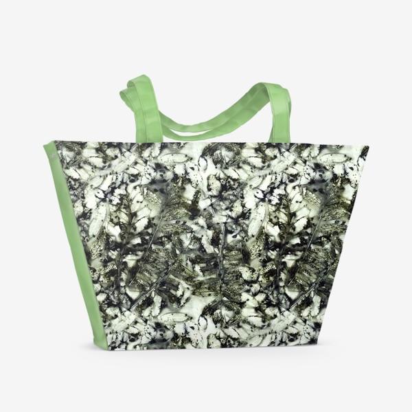 Пляжная сумка «Осенняя графика (темный)»