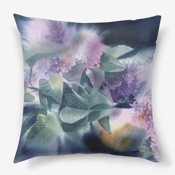 Подушка «Lilac flowers»