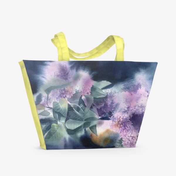 Пляжная сумка «Lilac flowers»