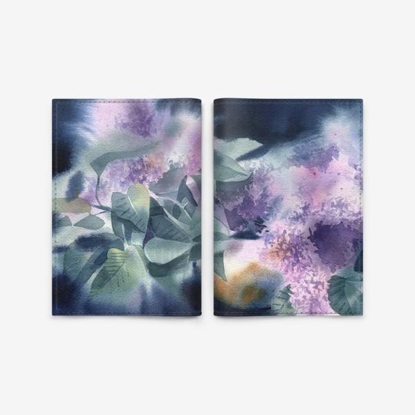 Обложка для паспорта «Lilac flowers»