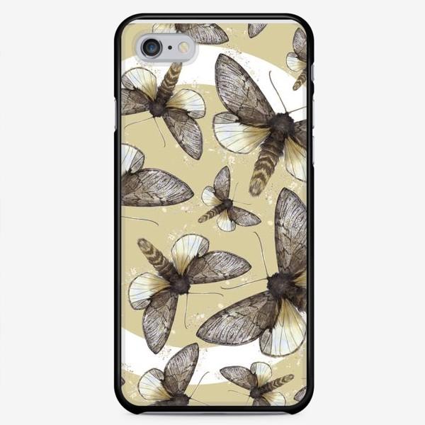 Чехол iPhone «Мотыльки сепия»