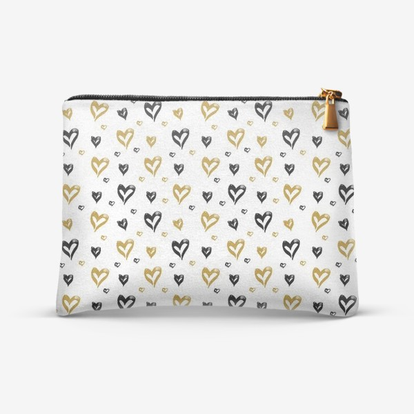Косметичка «Pattern design with hearts»