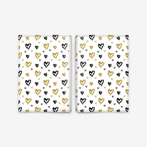 Обложка для паспорта «Pattern design with hearts»