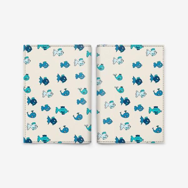 Обложка для паспорта «Паттерн с рыбками»