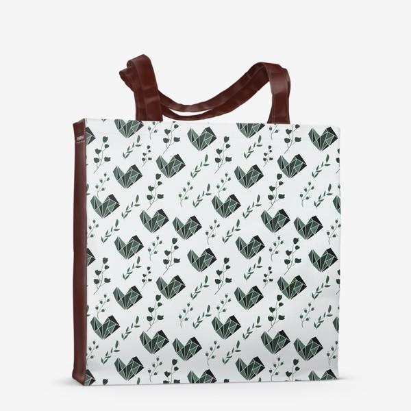 Сумка-шоппер «Паттерн с цветочными элементами»