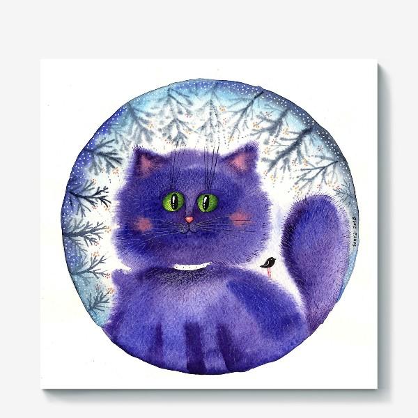 Холст «Чернильный кот»