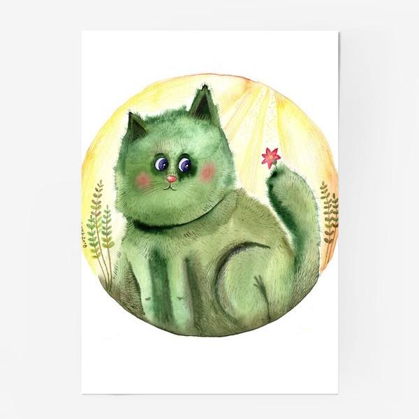 Постер «Кот Кактус»
