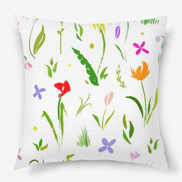 Подушка «Цветы цвета цветов»