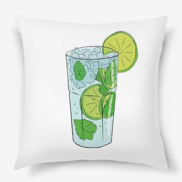 Подушка «Мохито. Алкогольный коктейль»