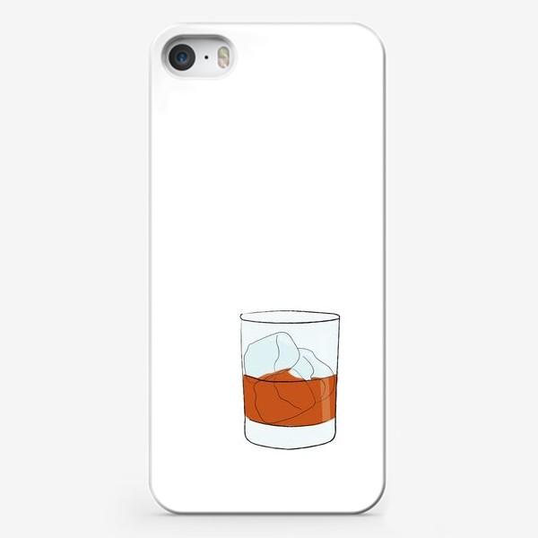 Чехол iPhone «Виски со льдом, алкогольный напиток»