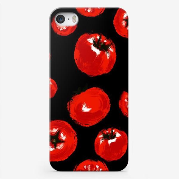 """Чехол iPhone «Серия """"Живописные томаты"""". На черном»"""