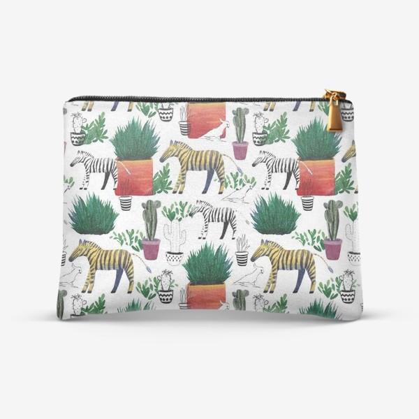 Косметичка «Зебры и кактусы»