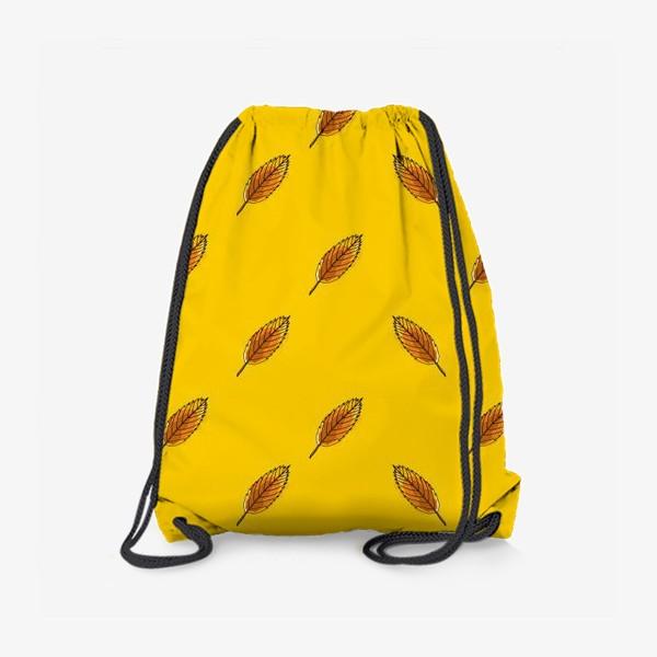 Рюкзак «Листья рябины на желтом фоне»
